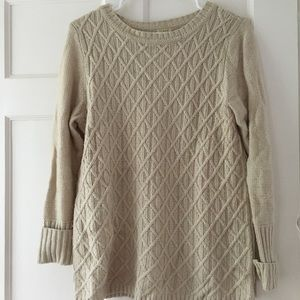 Beige J. Crew thick sweater